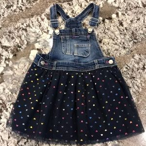 Jordache Denim & Tulle Overall Dress